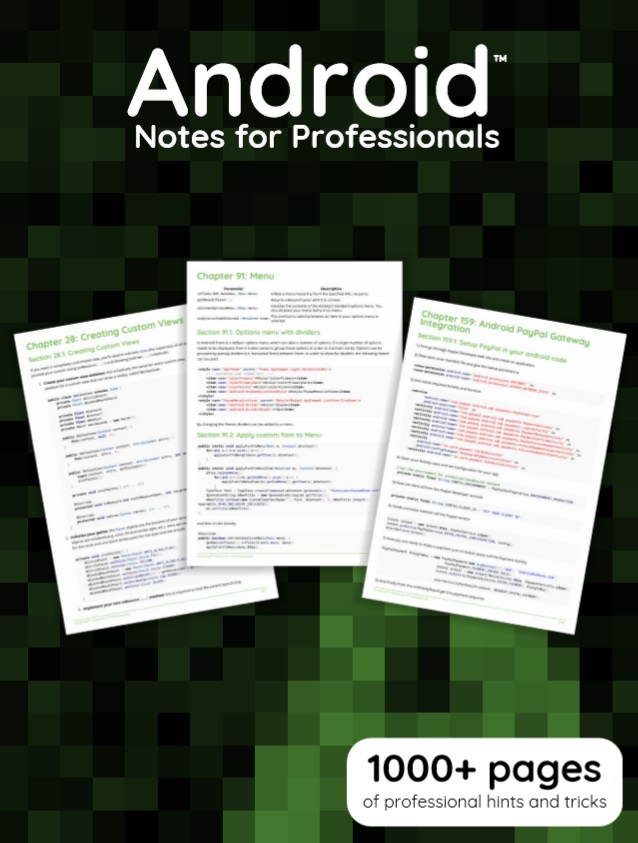 Android Notes For Professionals