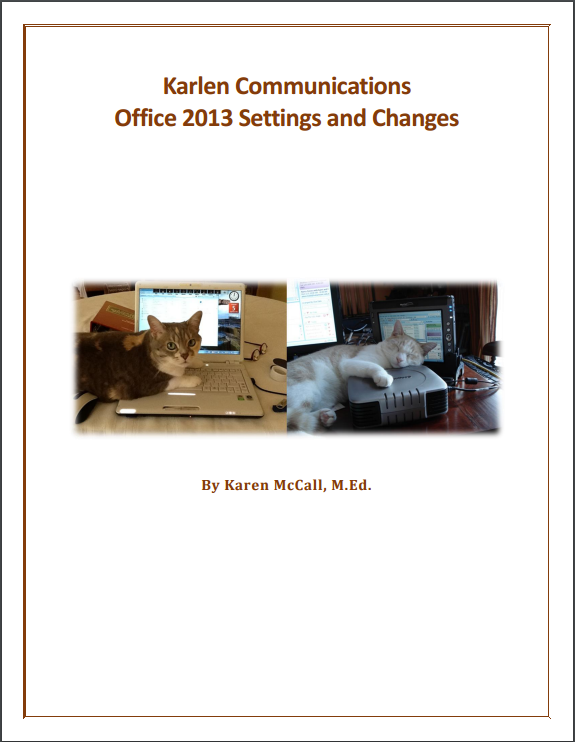 Office 2013 Settings And Changes