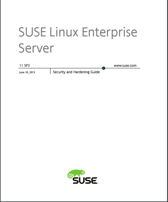 Suse Linux Enterprise Server Security And Hardinig Guide