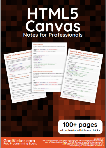 HTML5 Canvas Notes For Professionals
