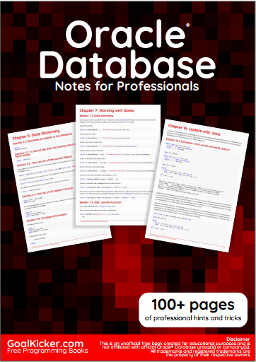 Oracle Database Notes For Professionals